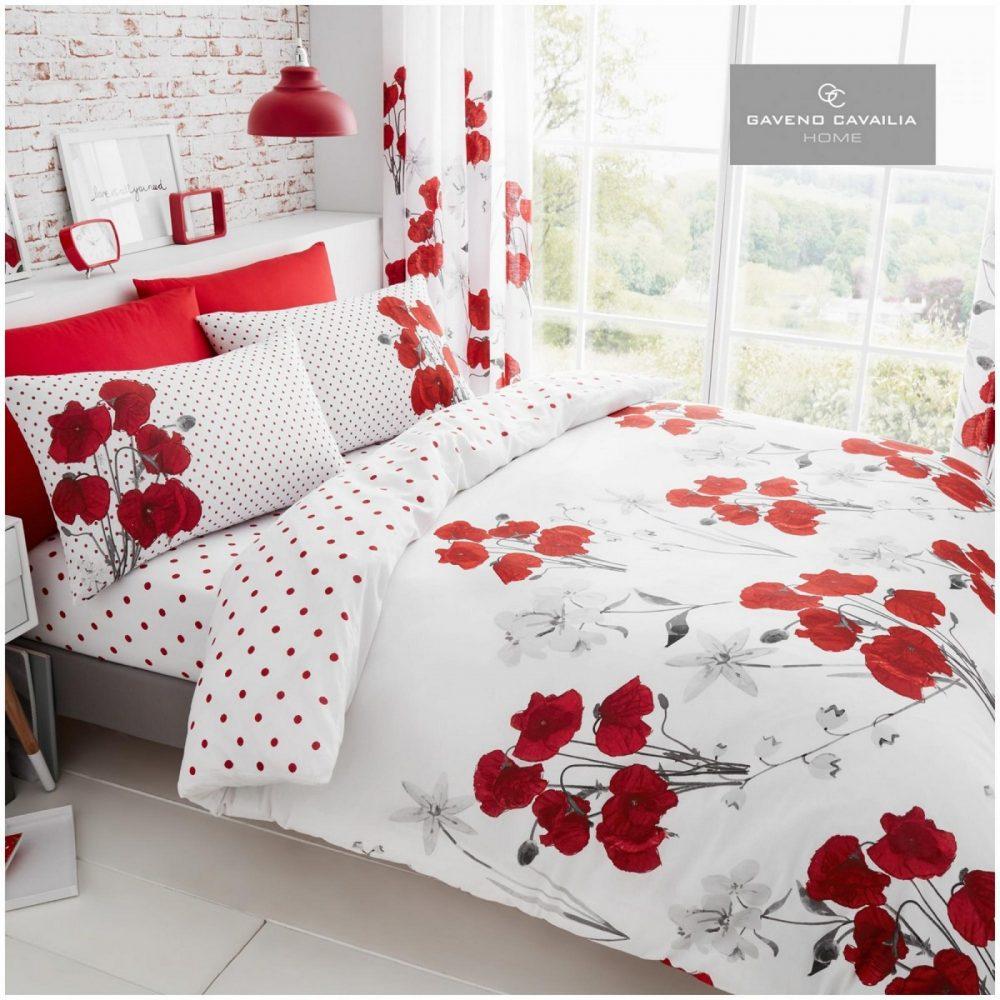 11147756 printed duvet set poppy double red 1 1