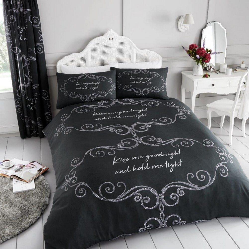11150558 printed duvet set good night double charcoal 1 2