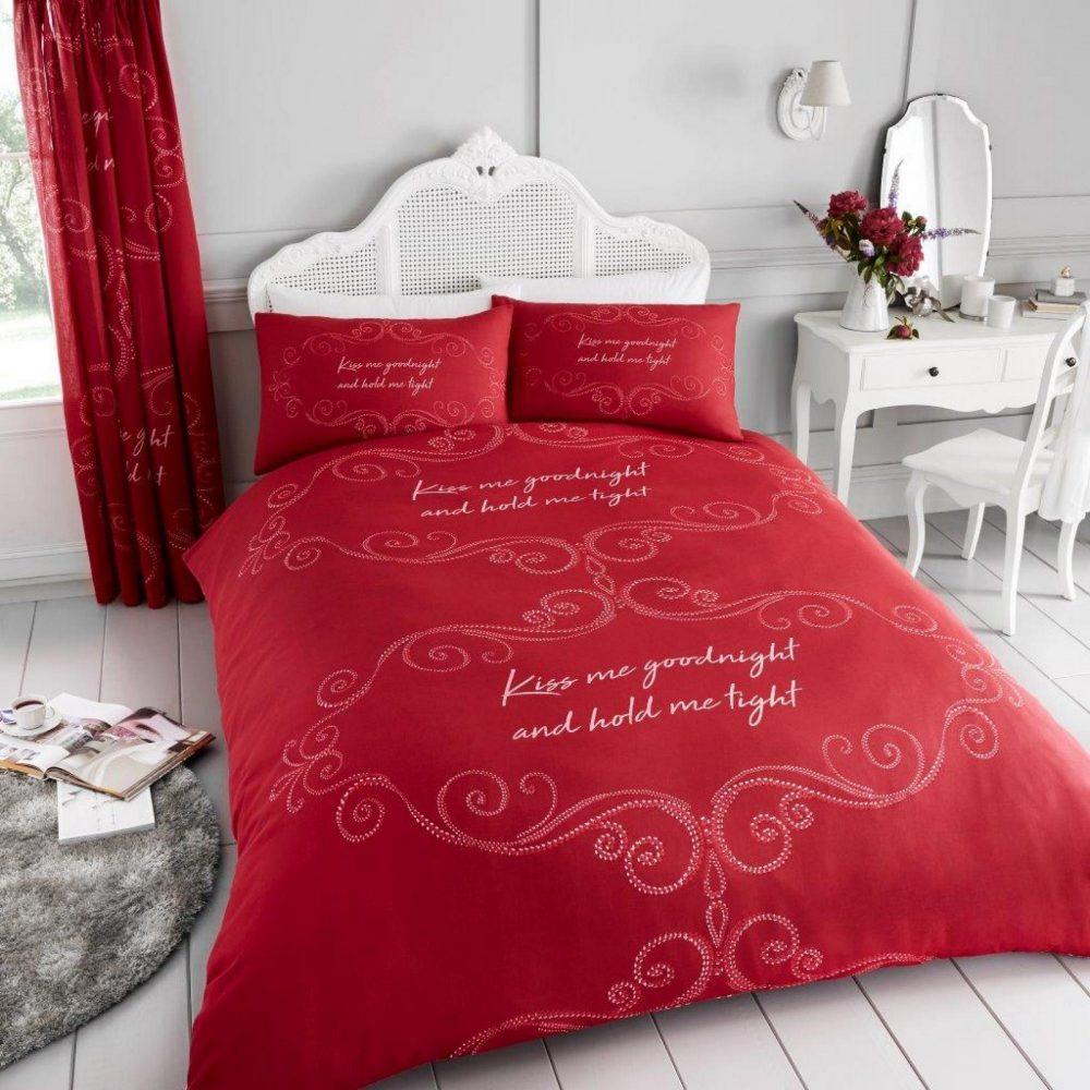 11150671 printed duvet set good night double red 1 1