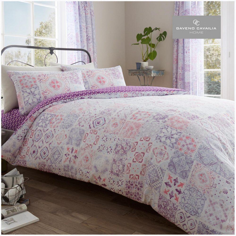 11150978 printed duvet set amira double pink 1 1