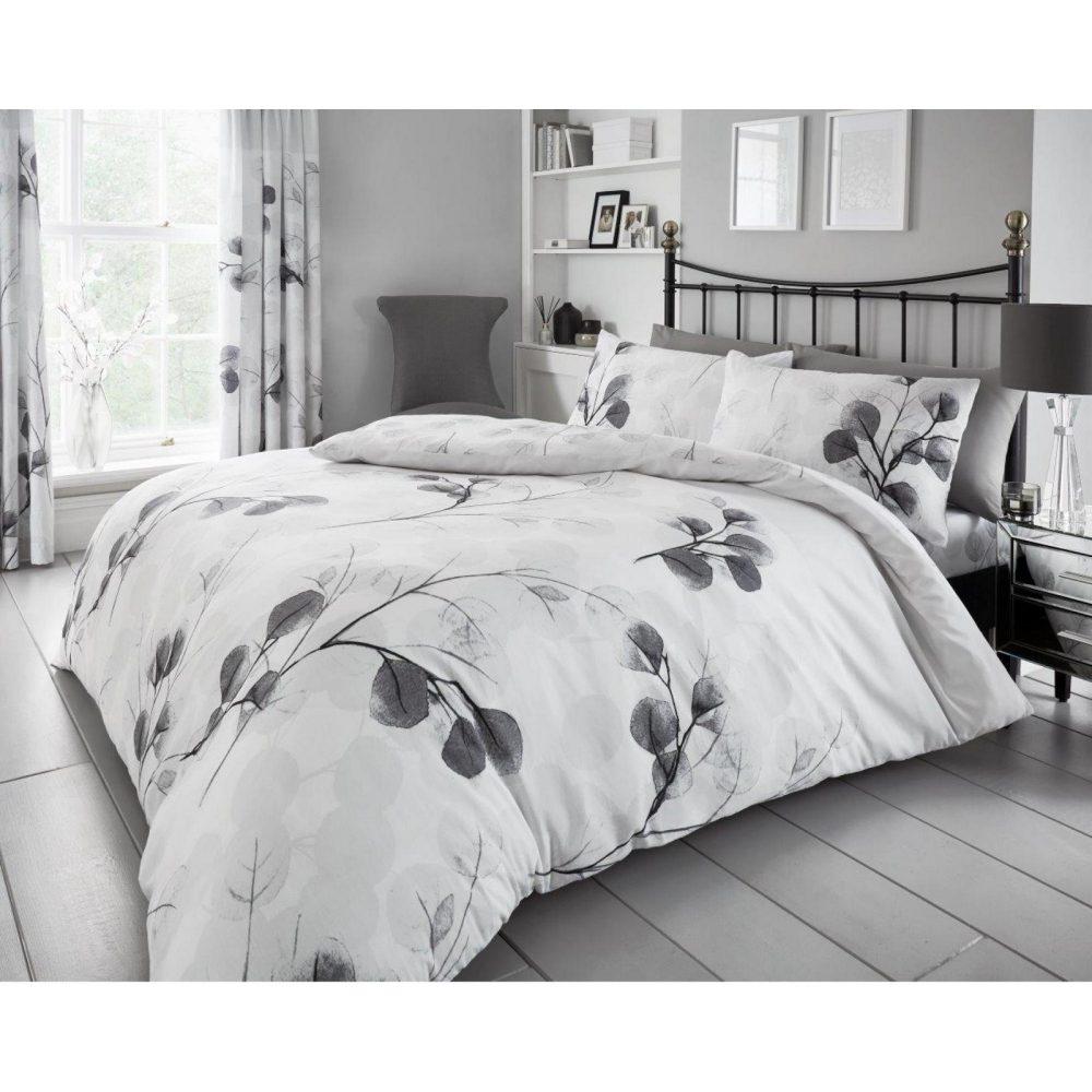 11151579 printed duvet set honesty leaf double grey 1 2