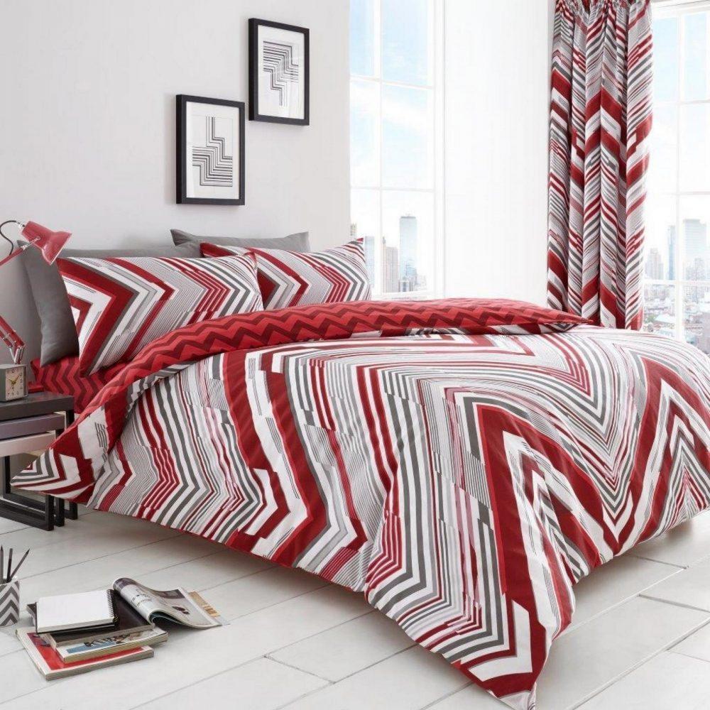 11152170 printed duvet set austin double red 1 1