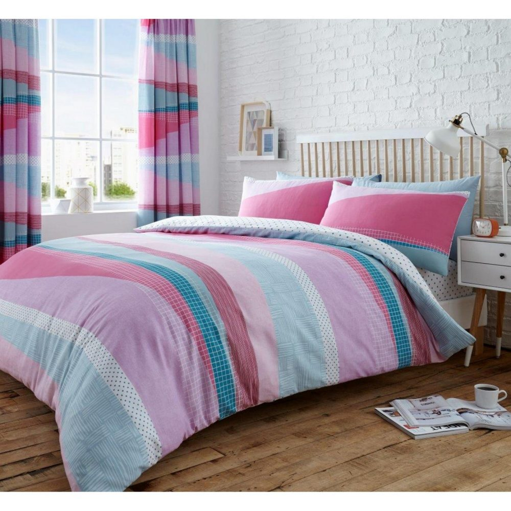 11153153 printed duvet set dexter double pink 1 1