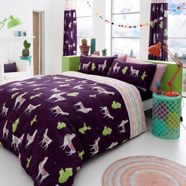 11153641 printed duvet set llama double multi 1 2