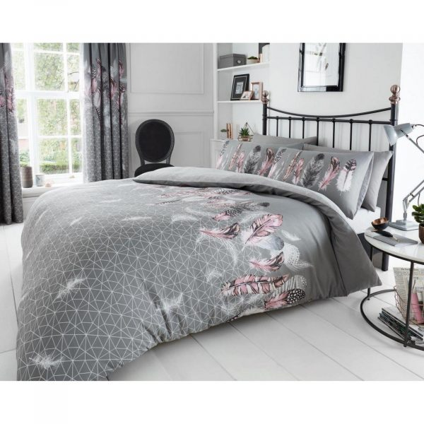 11153856 printed duvet set feathers double grey 1 2