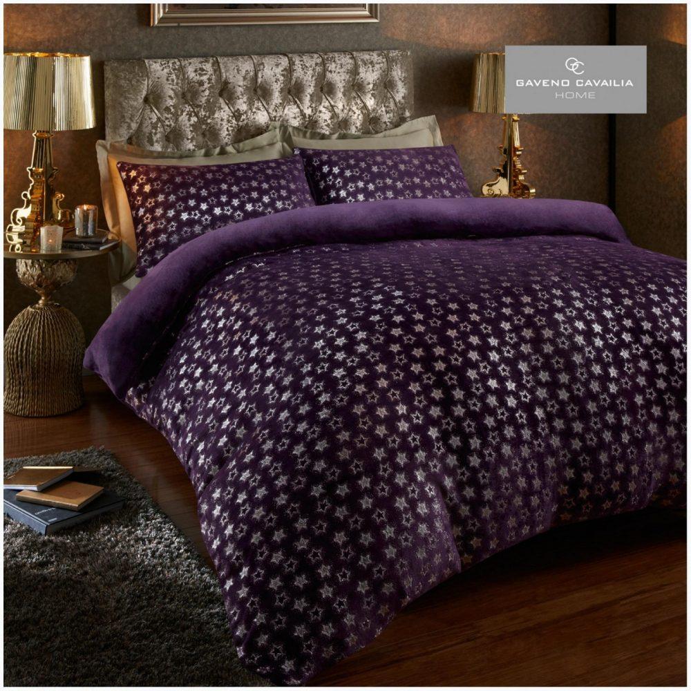 11155379 star foil duvet set double purple 1 1