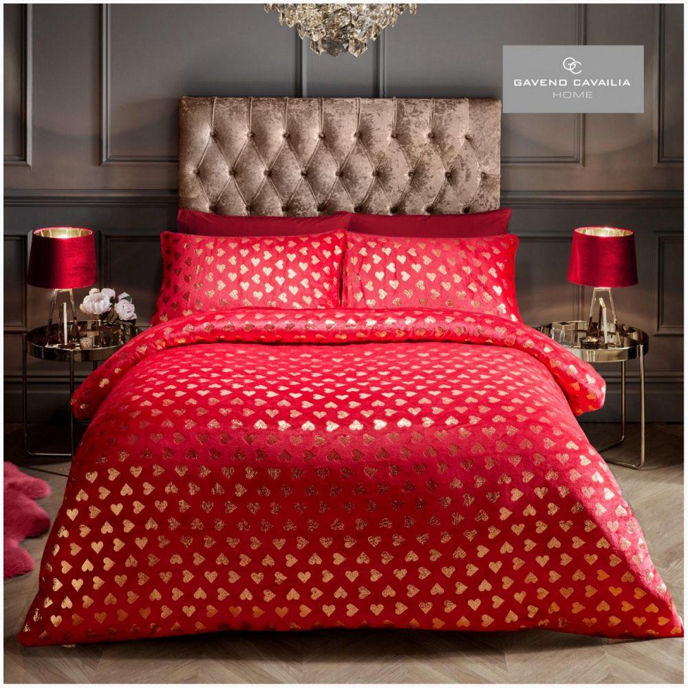 11155478 teddy duvet set heart foil double deep red 1 1