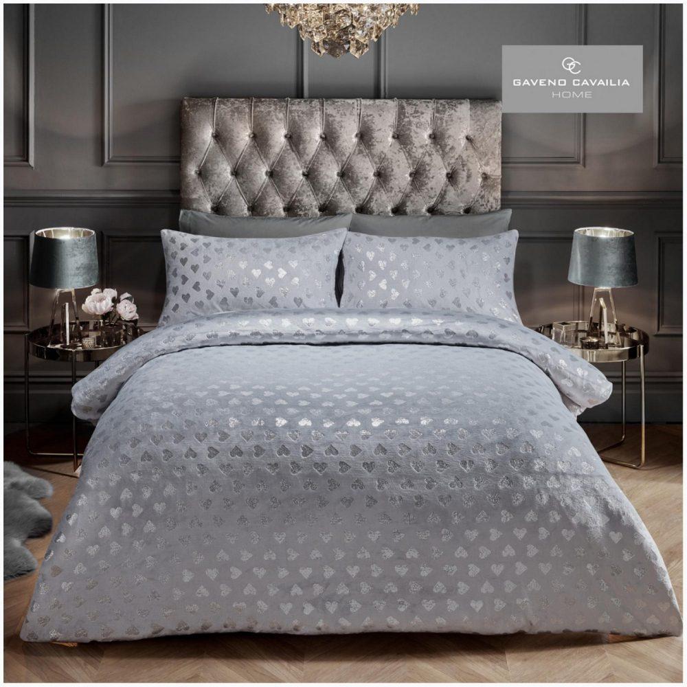 11155508 teddy duvet set heart foil double grey 1 1