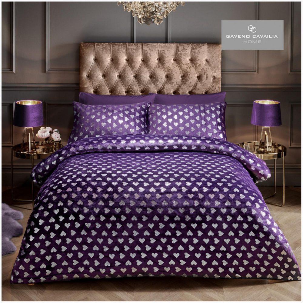 11155539 teddy duvet set heart foil double purple 1 1