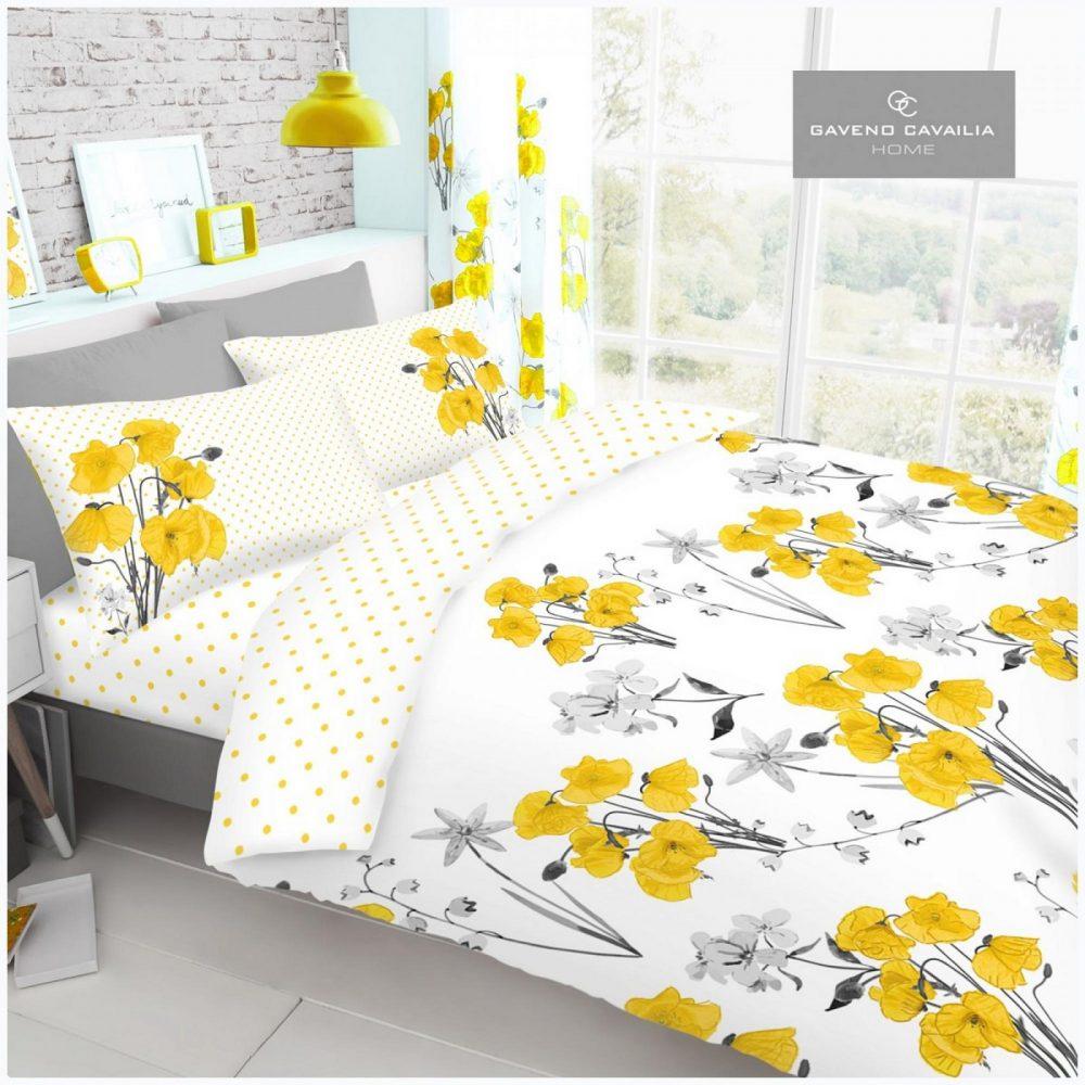 11155904 printed duvet set poppy double yellow 1 1