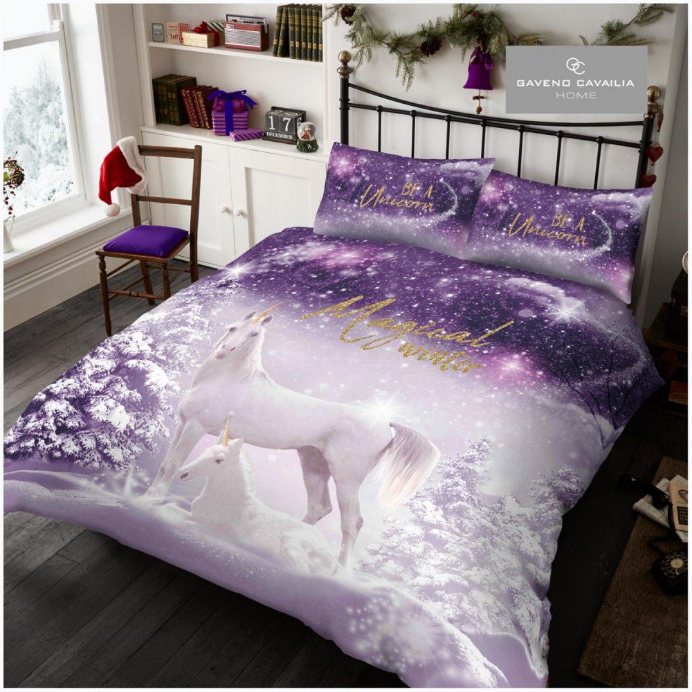 11156086 xmas duvet set be a unicorn double 1 2