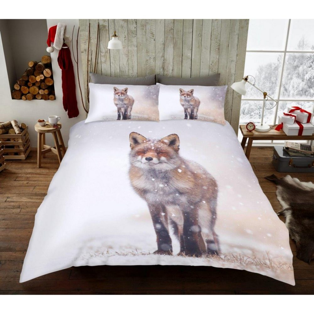 11156352 xmas duvet set winter fox double 1 2