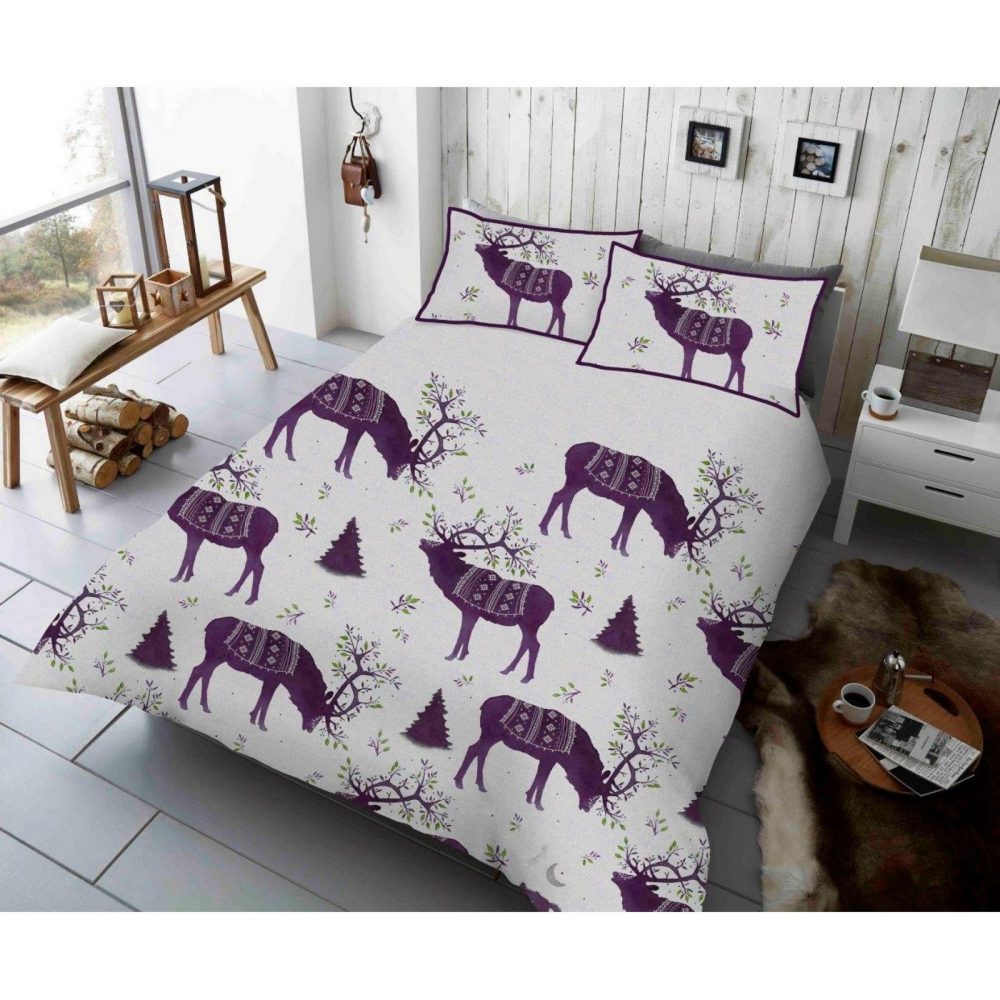 11156659 xmas duvet set winter berry stag double purple 1 1