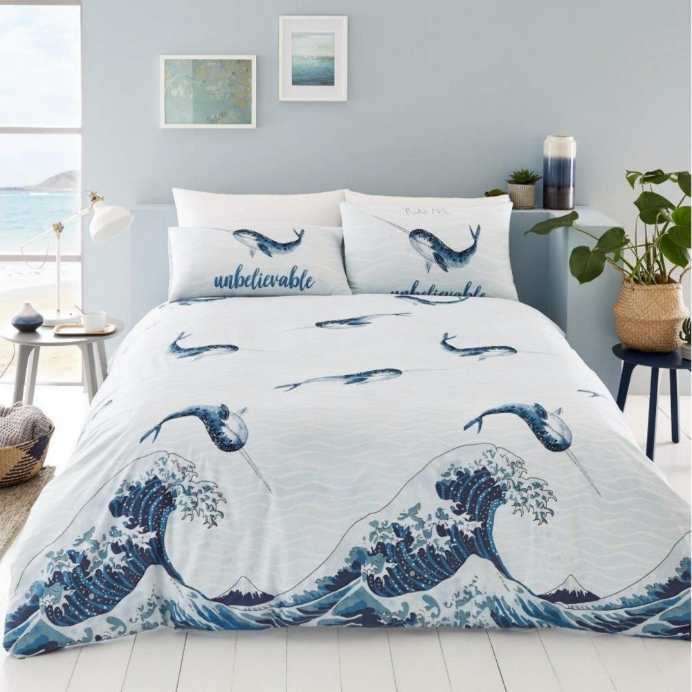 11157229 printed duvet set narwhal double blue 1 2