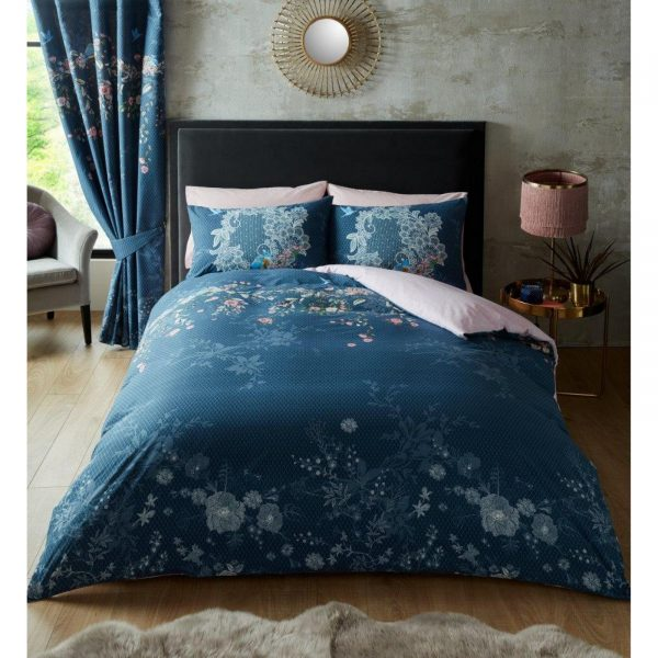 11157496 printed duvet set bella double navy 1 2