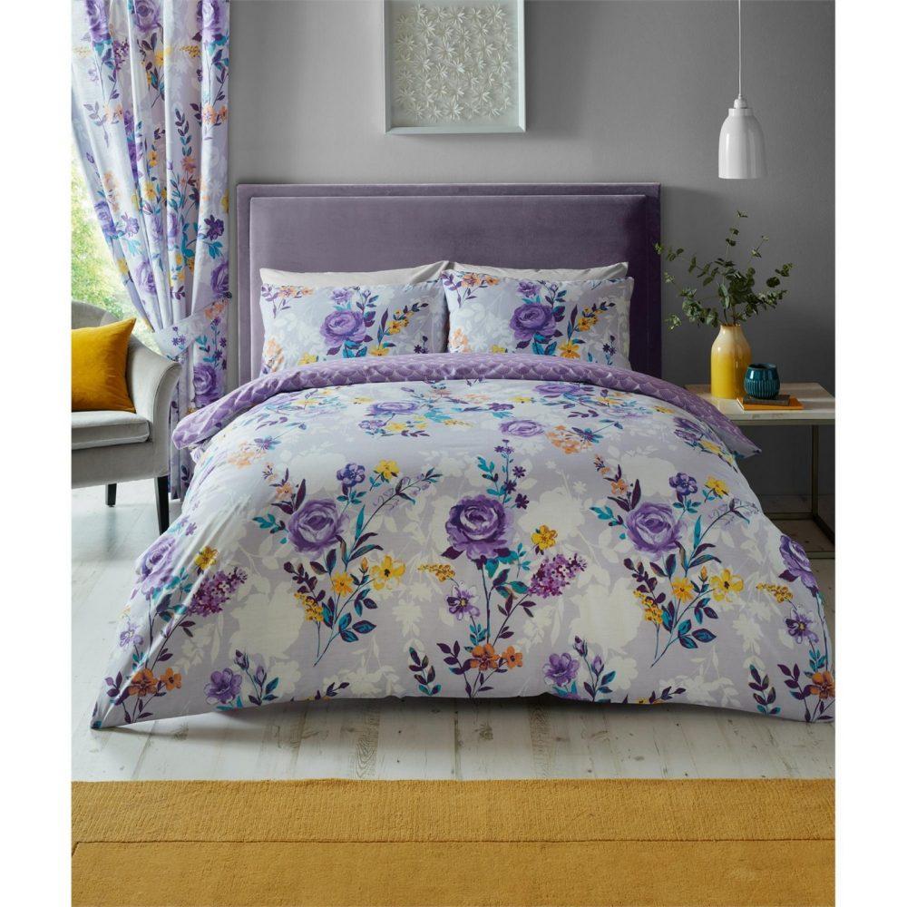 11157557 printed duvet set ciara double purple 1 1