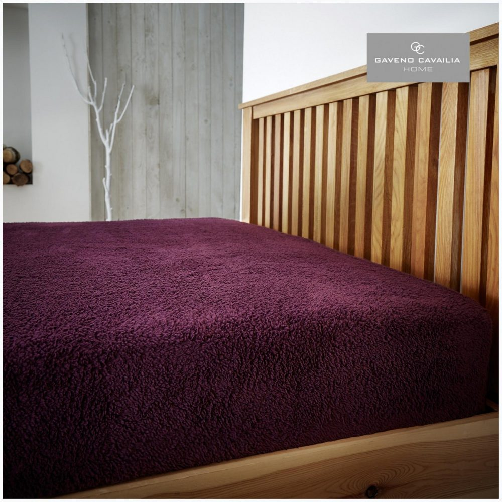 11158714 teddy plain fitted sheet double aubergine 1 2