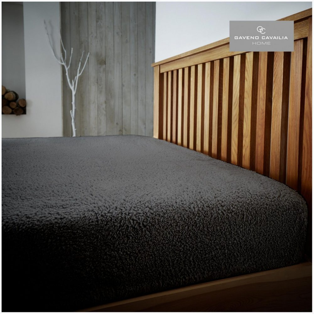 11158738 teddy plain fitted sheet double charcoal 1 1