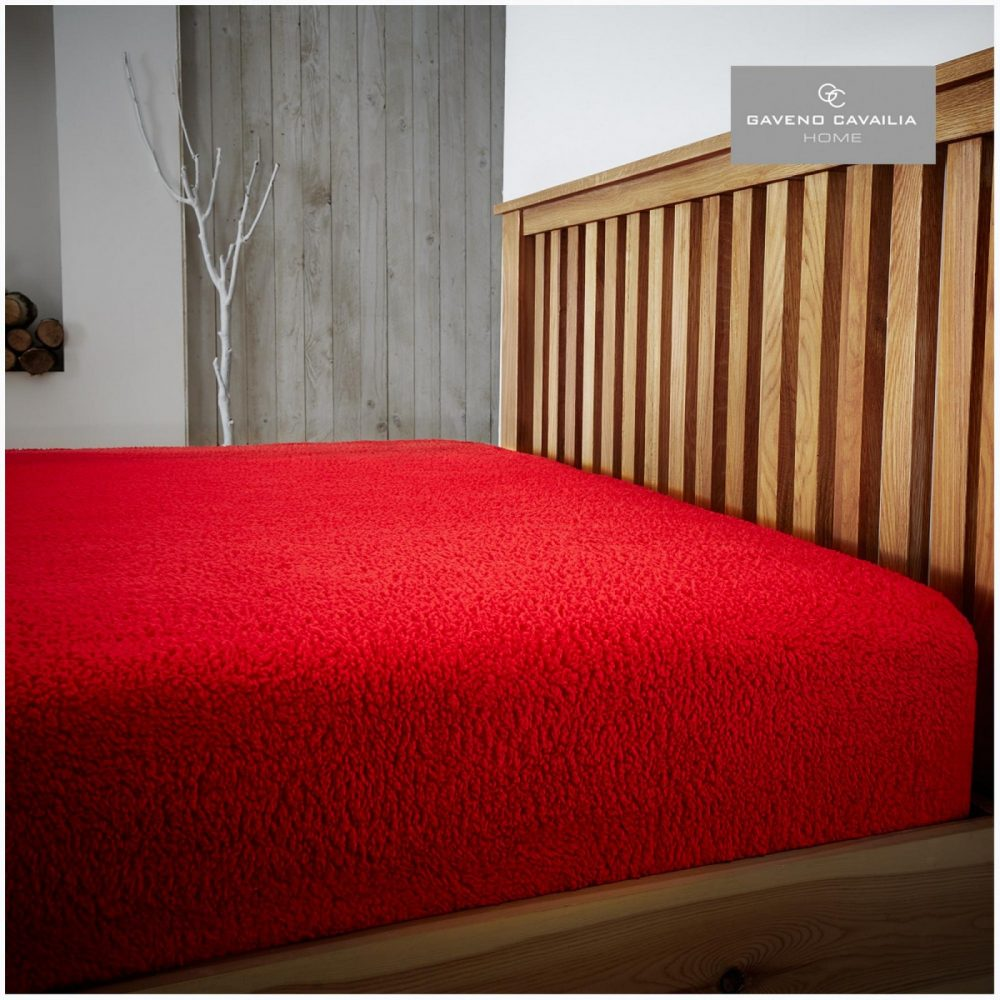 11158769 teddy plain fitted sheet double red 1 1