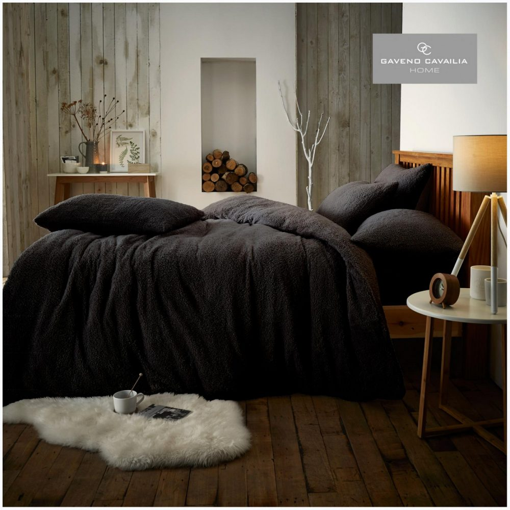 11159070 teddy plain duvet set double black 1 1