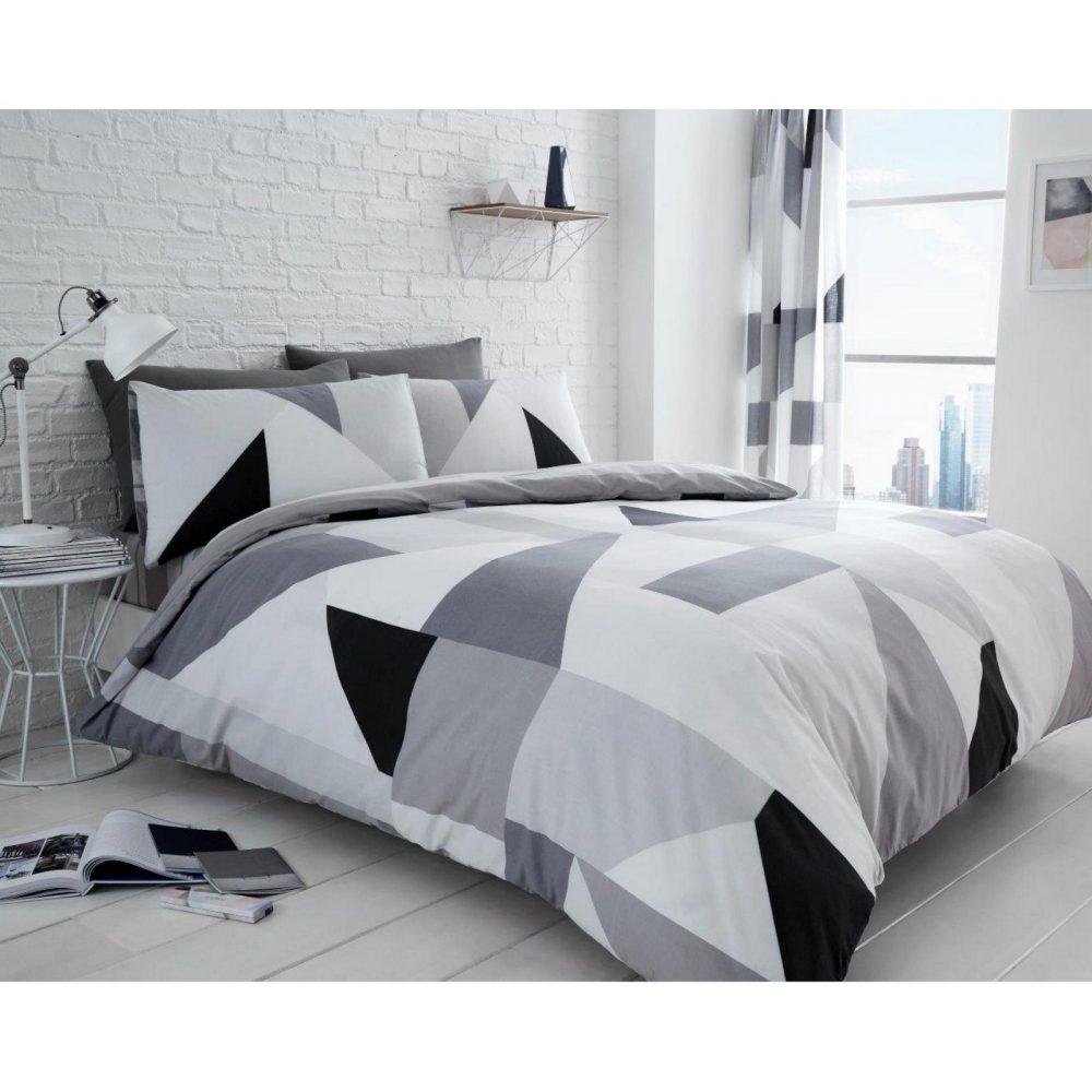 11159469 printed duvet set sydney double grey 1 1