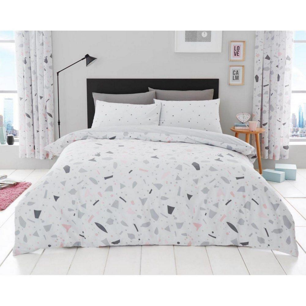 11159490 printed duvet set terrazzo double grey 1 2