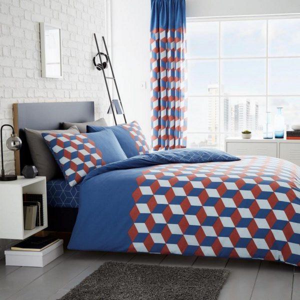 11160175 printed duvet set cubix double blue 1 2