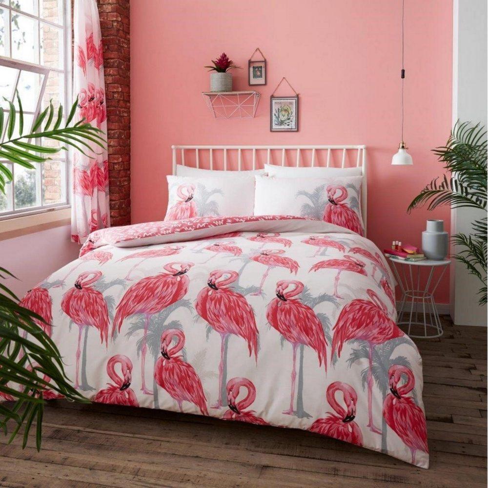 11160274 printed duvet set flamingo double pink 1 2