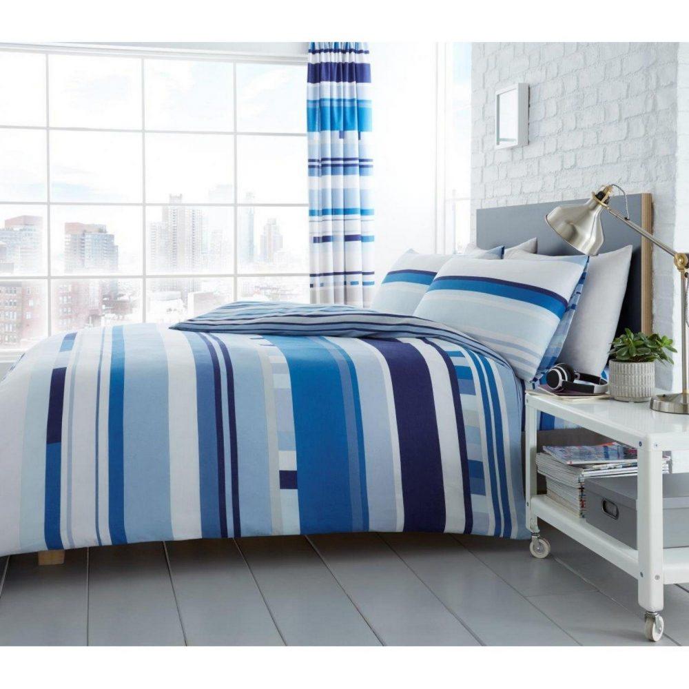 11160472 printed duvet set chester stripe double blue 1 2
