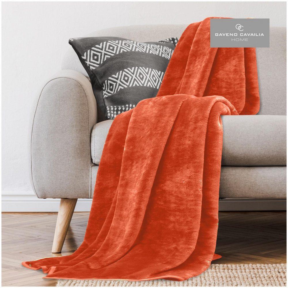 11161561 mink fur throw 150x200 orange 1 1