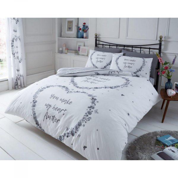 11161752 printed duvet set flutter double grey 1 2