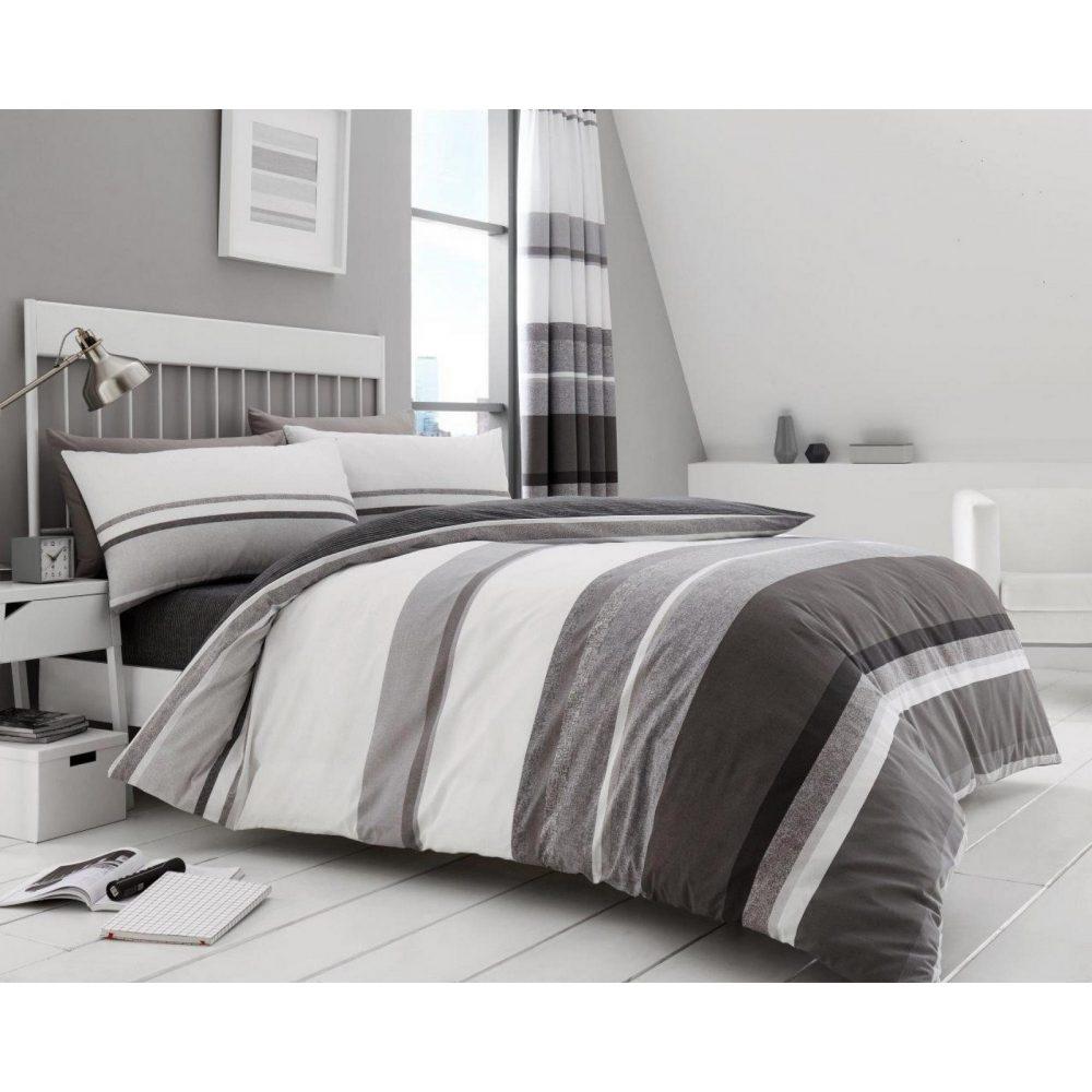 11161899 printed duvet set hudson double grey 1 2