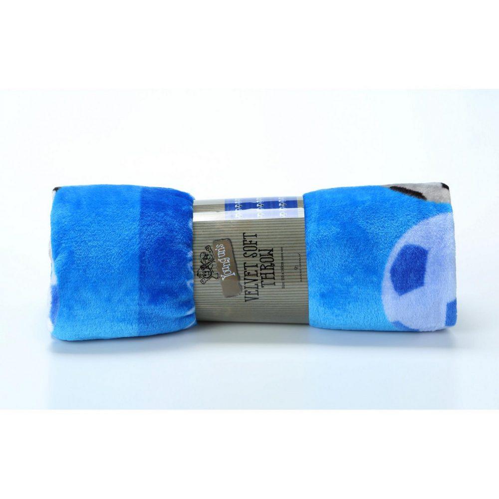 11163633 kids printed throw 110x140 football blue 1 1