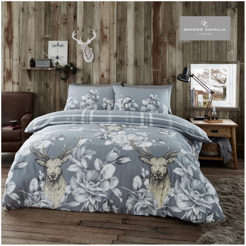 11164197 flannel duvet set laura stag double grey 1 2