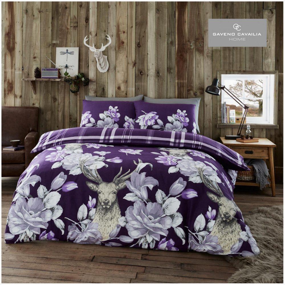 11164210 flannel duvet set laura stag double purple 1 3