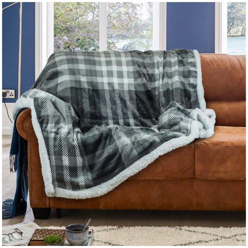 11164289 flannel throw wiltshire 125x150 grey 1 2