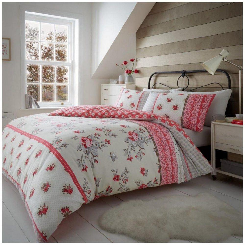 11164753 flannel duvet set evelyn double red 1 3