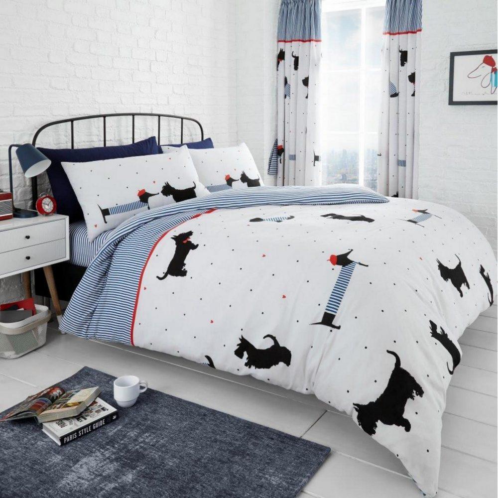 11164944 printed duvet set pooch double blue 1 2