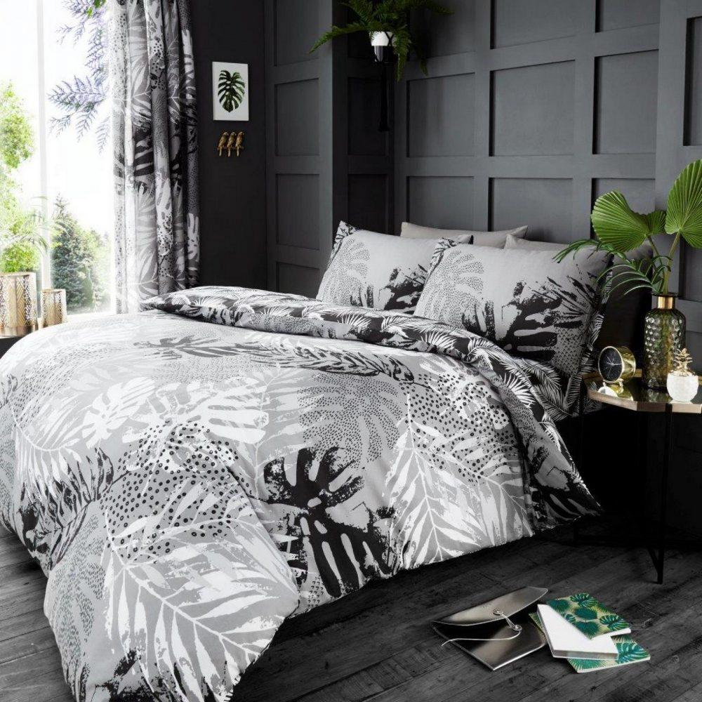 11165156 printed duvet set dark tropical double grey 1 1