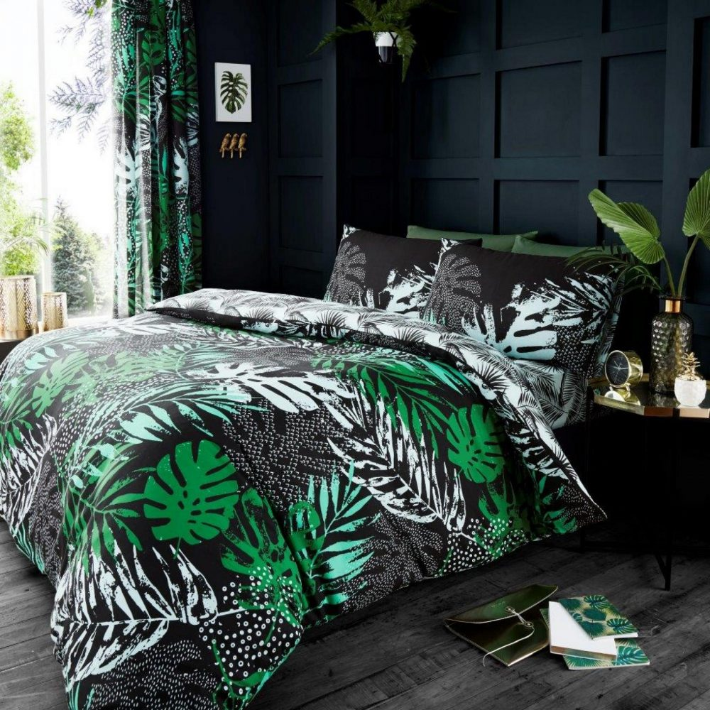 11165224 printed duvet set dark tropical double green 1 2