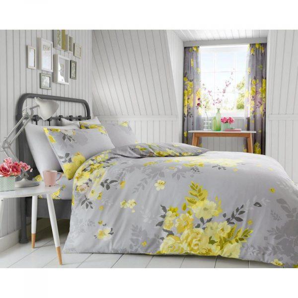 11165293 printed duvet set alice double yellow 1 2