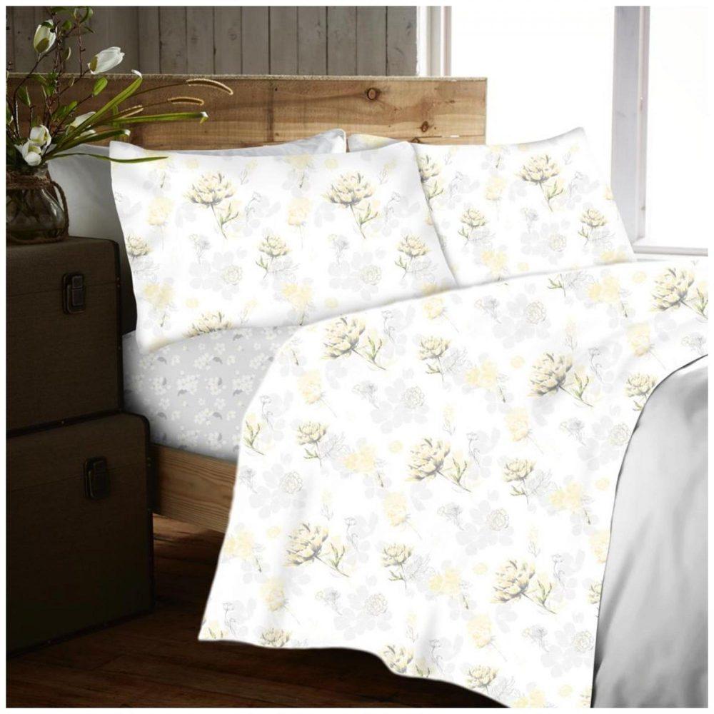 11166672 flannel sheet set yarrow single yellow 1 2