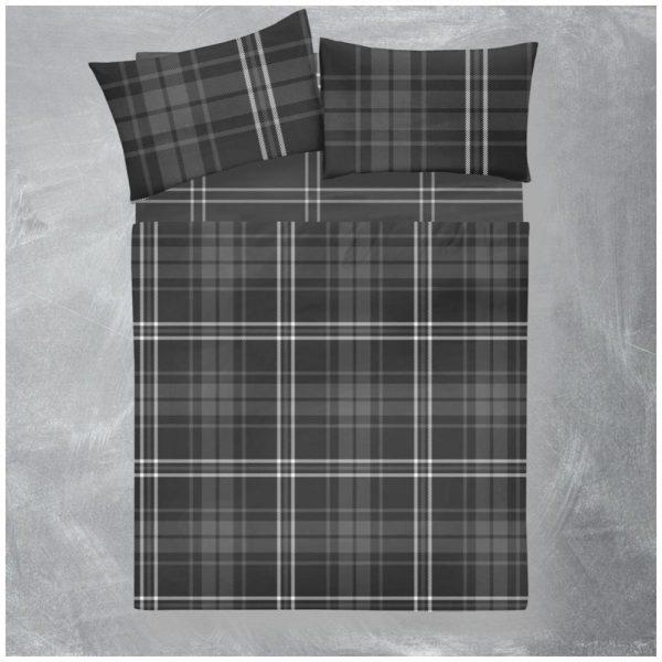 11166771 flannel sheet set arthur check double grey 1 2