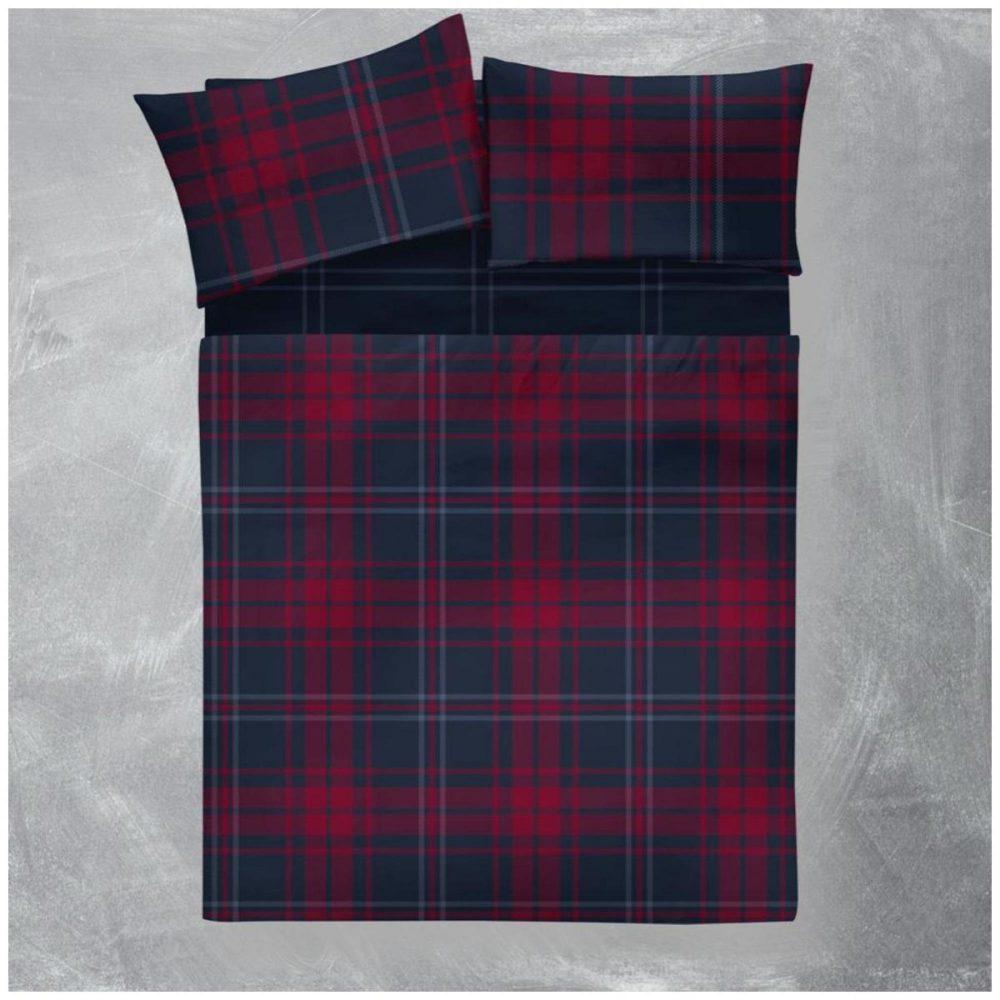 11166801 flannel sheet set arthur check double navy 1 2