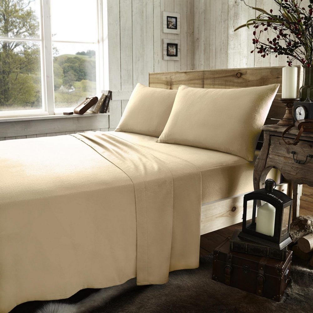 11169321 flannel plain fitted sheet double latte 1 2