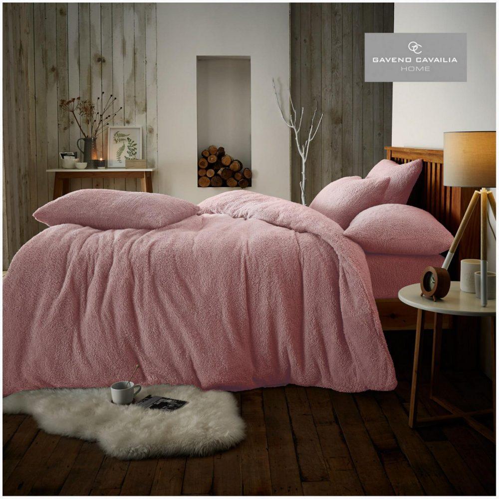 11356417 teddy plain duvet set double pink 1 1
