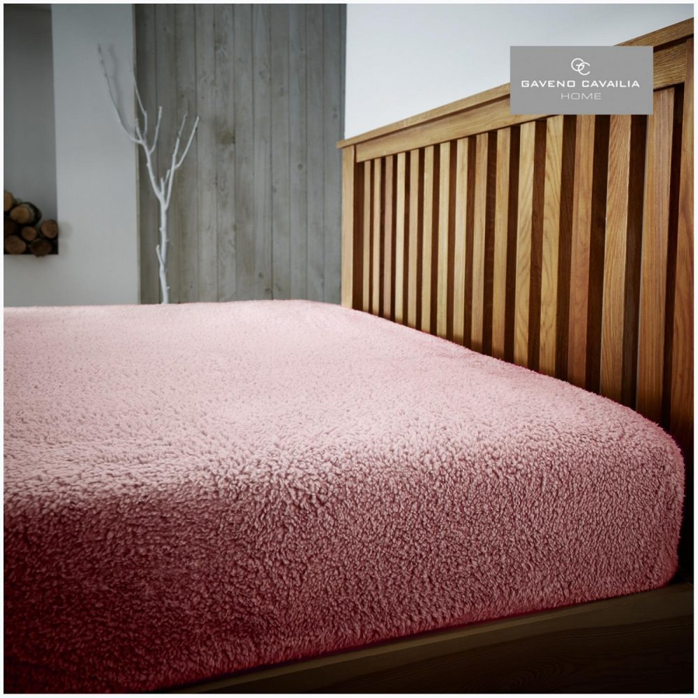 11356455 teddy plain fitted sheet double pink 1 1