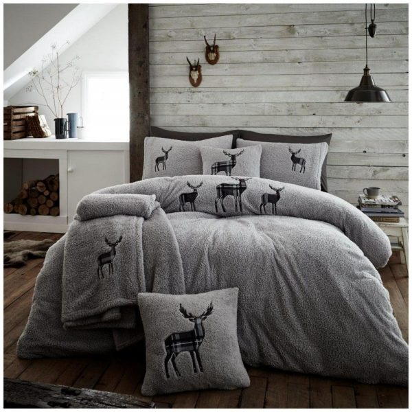 11356509 emb teddy stag duvet set double charcoal 1 2
