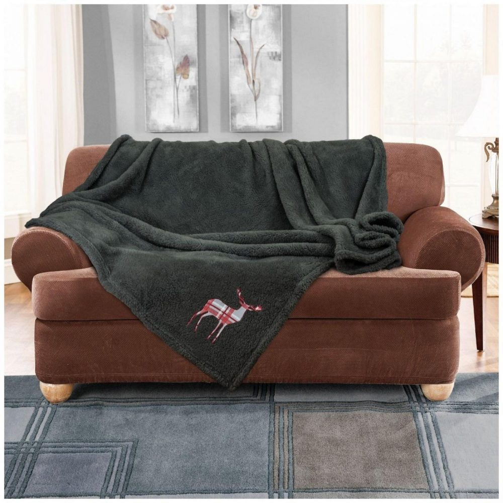 11356530 emb teddy stag throw 150x200 charcoal 1 2