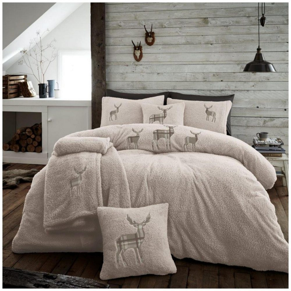 11356622 emb teddy stag duvet set double natural 1 2